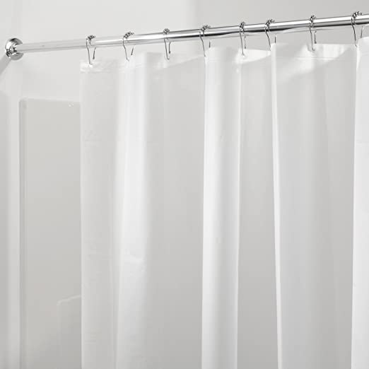 "Non-Toxic PEVA Frost Shower Curtain Liner with Magnets 72/"" x 72/"" Mildew-Free"