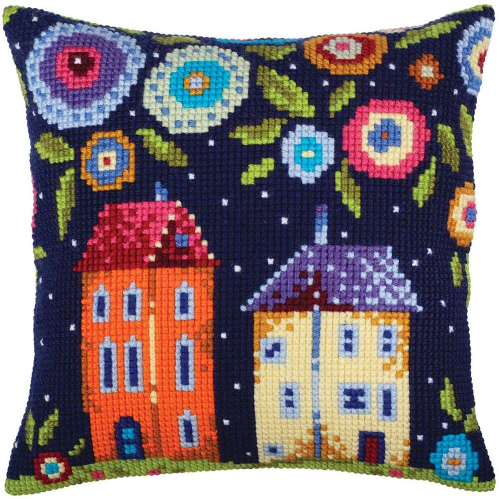 Collection DArt Bloomy Street Pillow Cover Needlepoint Kit