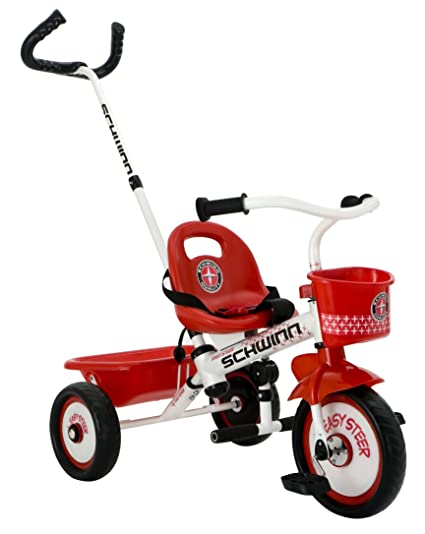e14c228a810 Amazon.com: Schwinn Easy Steer Tricycle, Red/White: Toys & Games
