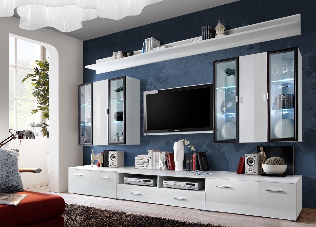 BMF Quadro / Iceland German Style Schrankwand, Möbelset, Fernsehtisch,  LED Schränke, Für Wohnzimmer/ Schlafzimmer/ Studio/ Wohnung ICELAND_WS  Jetzt ...