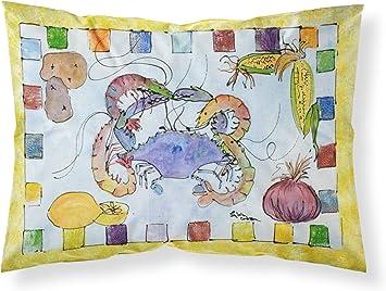 Large Multicolor Carolines Treasures 8068PILLOWCASE Crab Moisture Wicking Fabric Standard Pillowcase