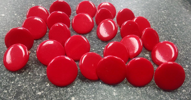 Scrapbooking Jumbo Round Brads Bulk 25pc - Red