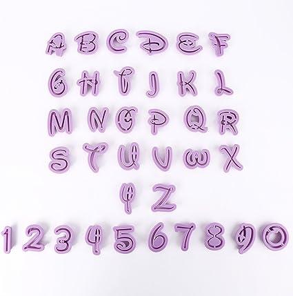 40 Tlg Alphabet Buchstaben Ausstechform Zahlen Fondant Marzipan Tortendeko GB