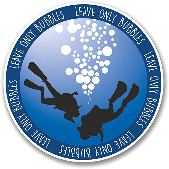 2 x Born To Dive Scuba Diving Vinyl Sticker Laptop Travel Luggage Car #6672