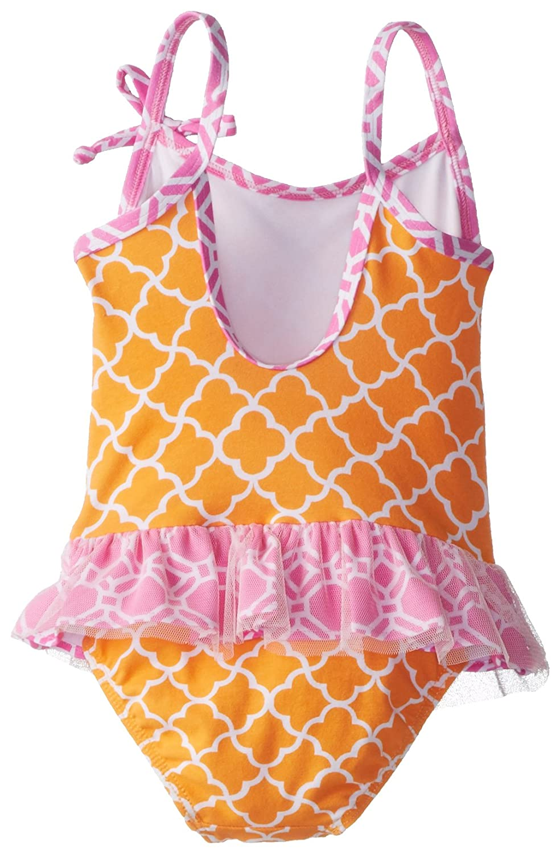 Flap Happy Little Girls  Skirted Swimsuit
