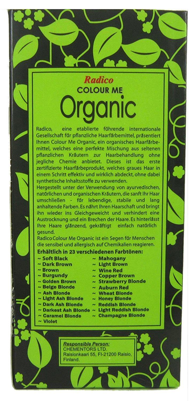Radico Colour Me Organic Dark Ash Blonde Plant Hair Colour