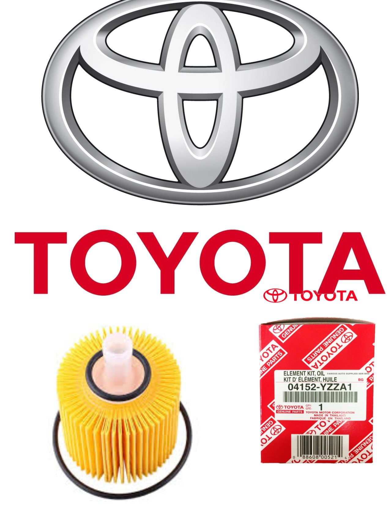 GENUINE TOYOTA OIL FILTER with WRENCH ASPG ZTOOL PREMIUM for 2.5L 3.5L to 5.7L Engines - Perfect for Camry, RAV4, Highlander, Sienna, Tundra and More - Fits 64mm Cartridge Style Oil Filter Housings by APSG (Image #5)