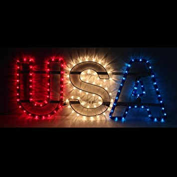 Amazon usa letter rope light red white blue usa letter usa letter rope light red white blue usa letter decoration big aloadofball Gallery