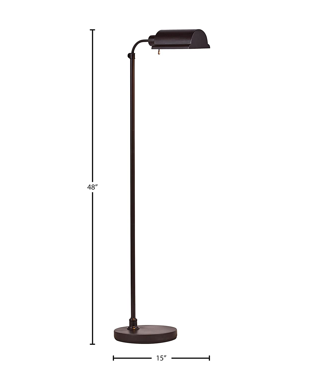 Matte Black 16 x 6.25 x 14 Inches Stone /& Beam Modern Pharmacy Table Desk Lamp With Bulb