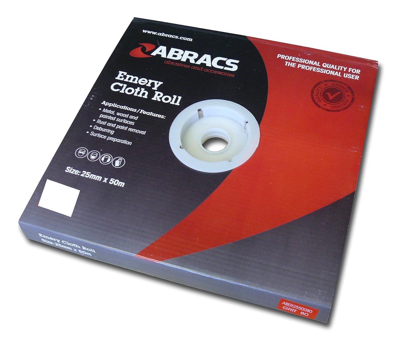 Abracs 25mm x 50m x 280g Emery Roll ABER2550280
