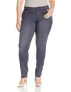 Amazon.com: Jeans Colonia de la mujer Plus tamaño Washed ...