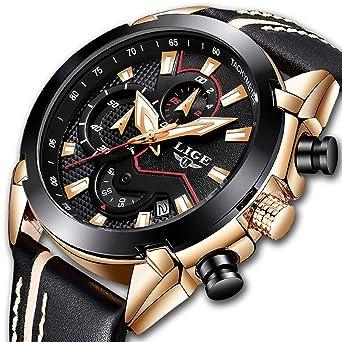 Amazon.com: Reloj de pulsera para hombre con cronógrafo ...
