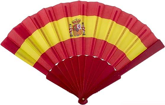 Generique - Abanico hincha España 23 cm: Amazon.es: Juguetes y juegos
