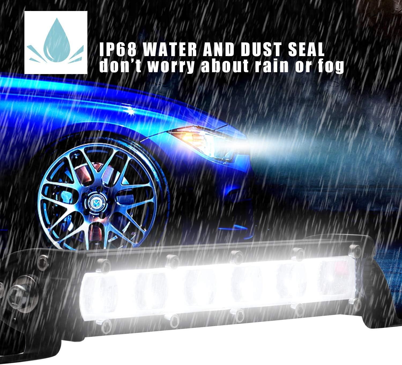 Binwwe 8inch 60W LED Auto LED Light Bar Offroad Zusatz Scheinwerfer Gef/ührtes Arbeits-Licht-Bar Nebel Licht Offroad SUV Driving Fog Lamp 4WD