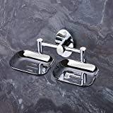 U-S-F BATH ACCESSORIES ARYAN USF Puma 304 Stainless Steel Anti Rust Corrosion-Free Double Dish-Bathroom Soap Holder, Medium (Silver Finish)