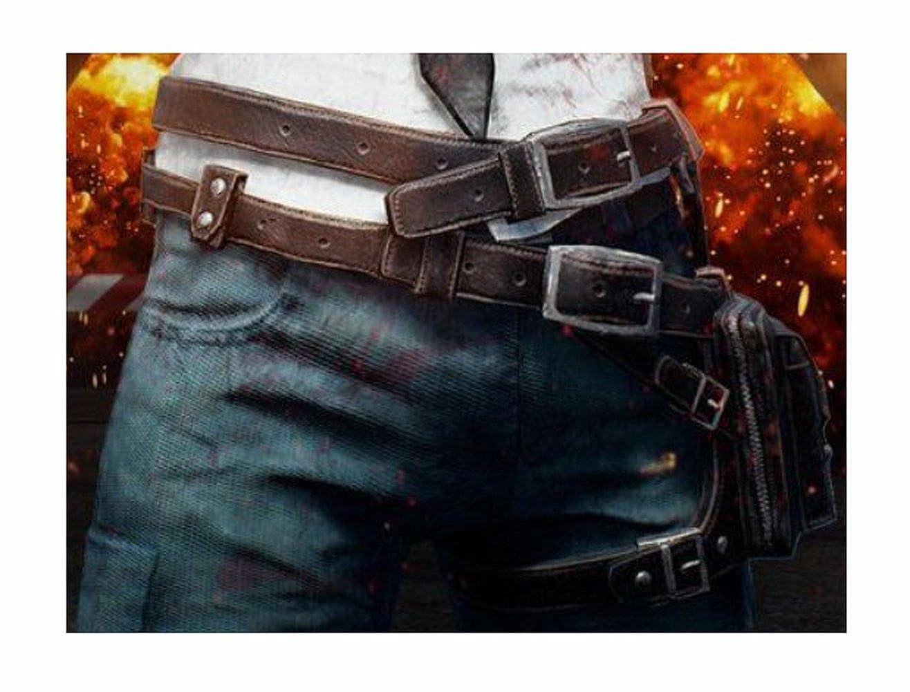 PU Battlegrounds Game Cosplay Props Belt Waistpack For Halloween Cosplay