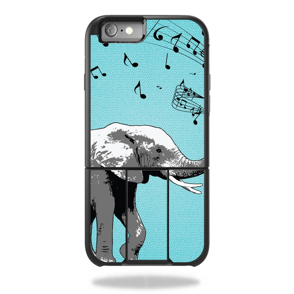 MightySkins Protective Vinyl Skin Decal for OtterBox Universe iPhone 6/6s Case wrap cover sticker skins Musical Elephant