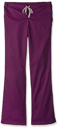 9e4903ea845 WonderWink Women's Size Tall Wonderwork Flare Leg Scrub Pant, Eggplant,  X-Small