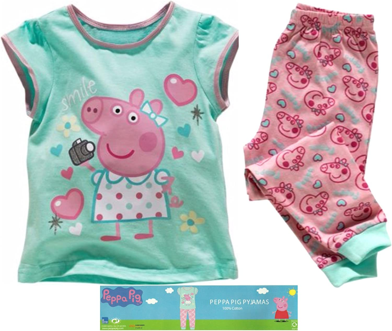Peppa Pig - Pijama - para niña Rosa Pink Aqua mixed: Amazon.es ...