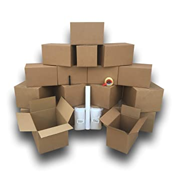 Un dormitorio 18 cajas de cartón básico Kit para mover Smart ...
