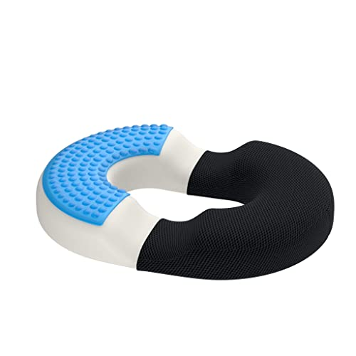 bonmedico Firm Orthopedic Donut Pillow - Memory Foam Hemorrhoid Pillow, Donut Cushion for Hemorrhoid Treatment, Coccyx Pain Relief & Tailbone Pain, BBL Pillow for Home, Office & Car, Standard