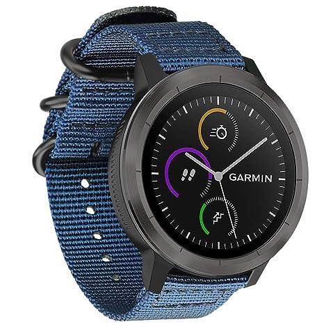 FINTIE Bracelet pour Garmin Vivoactive 3/ Garmin Vivoactive 3 Music/Forerunner 645 Music/Garmin Forerunner 245 Montre Connectée: Amazon.fr: High-tech