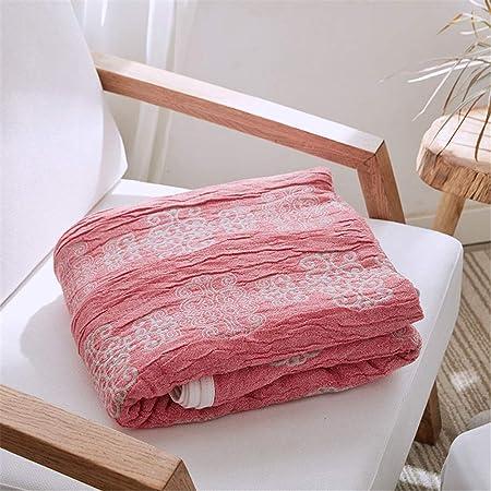 Mantas Verano Moda Para Camas 100% Algodón Hilo Tejido Verano Edredón Mantas Individuales Dobles Queen Toalla,Rojo,150 * 200cm: Amazon.es: Hogar