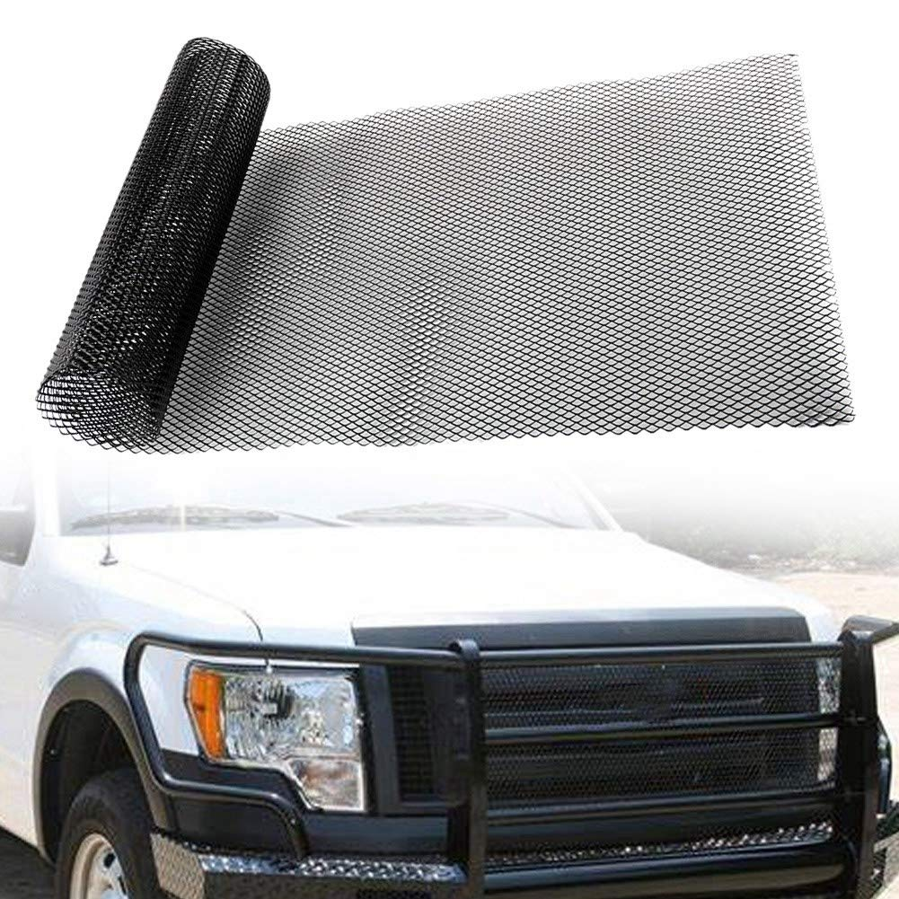 Fydun Car Grille Mesh Aluminum Alloy Car Grille Mesh Net Grid Universal Body Bumper Rhombic Grill 4x8mm