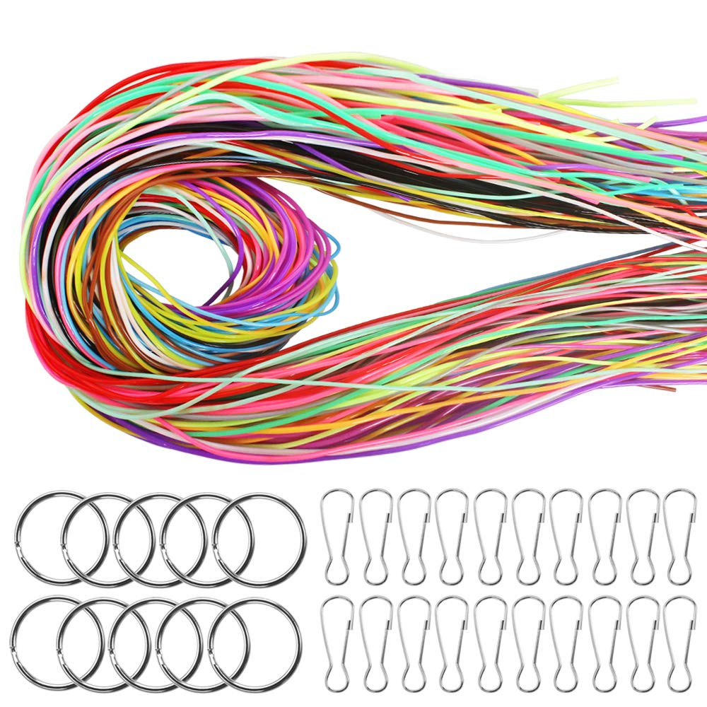 String Gimp Plastic Lacing Cord for Bracelets Scoubidou Craft Kits 20 Colors