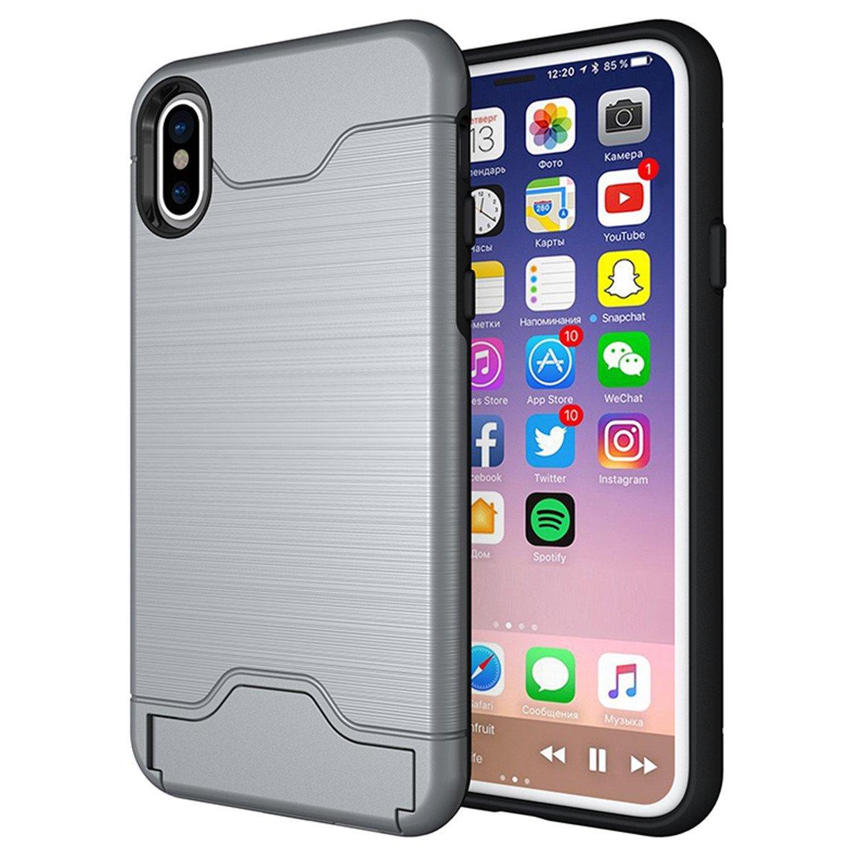 iPhone X Card Case, Lifeepro Hybrid Rugged PC + Premium Soft ...