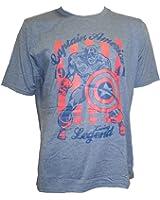 Marvel Comics Captain America Men's Blue T-Shirt