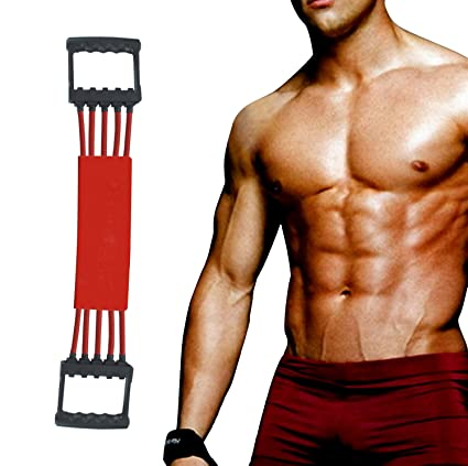 Winline Expansor del pecho Ejercitador de músculo ajustable, Fuerza de tracción 5 bandas removibles de resistencia con cubierta segura: Amazon.es: Deportes ...