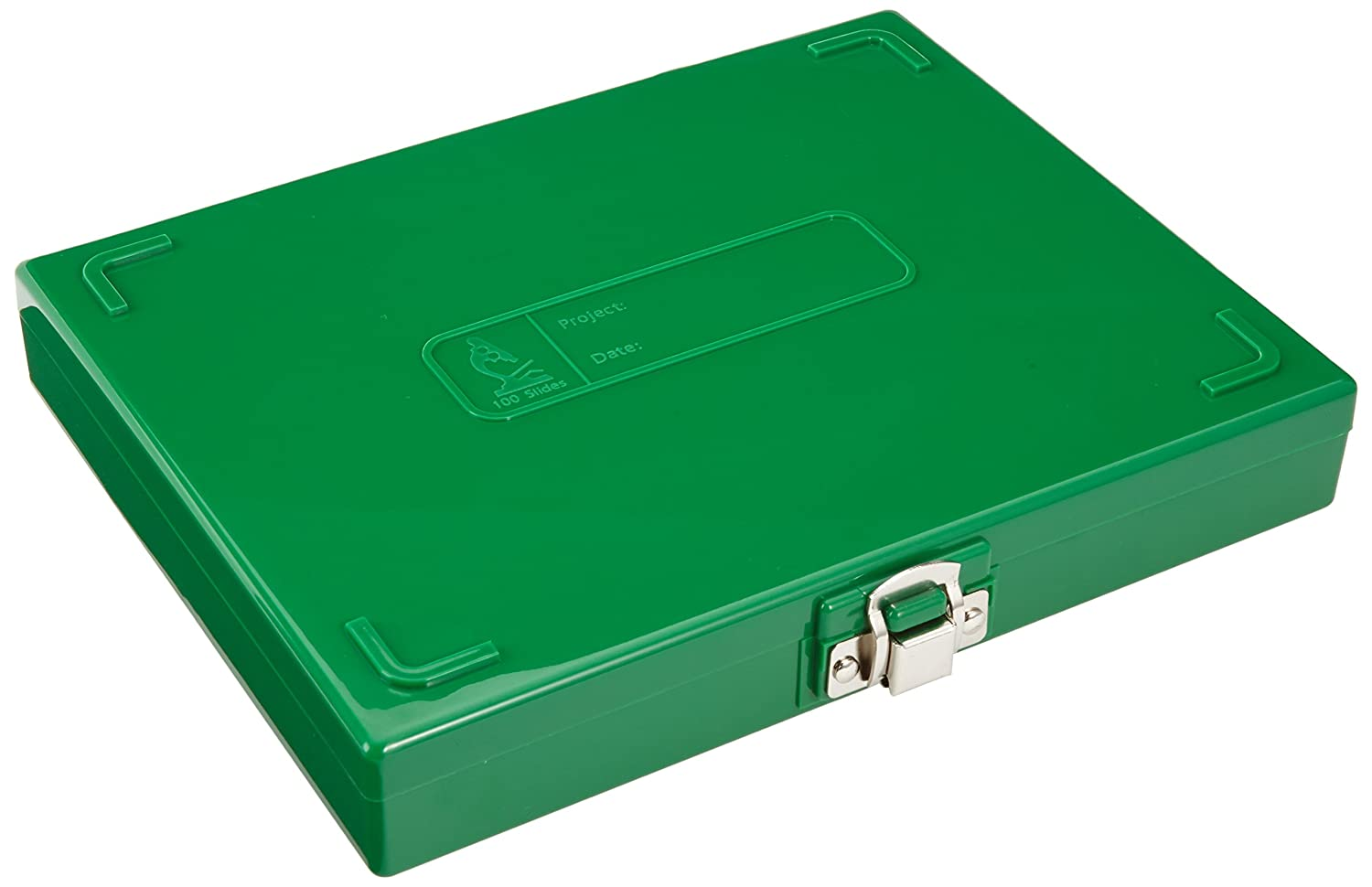 neoLab 2  2435  slide box for 100  slides, PS, green 2-2435