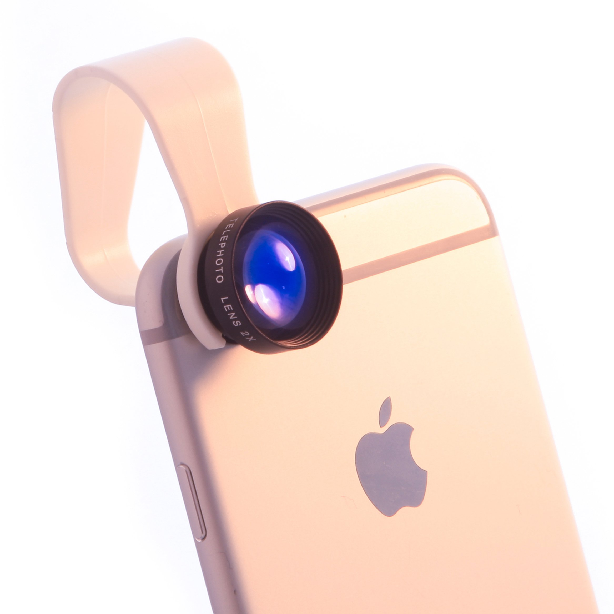iPhone Lens 2x Zoom by Pocket Lens - Pro 60mm Telephoto Lens - 2X More Vision - Optic Lens Works With Iphone 6/5/5S/4/Ipad/Samsung/Android and more - Comes with bag