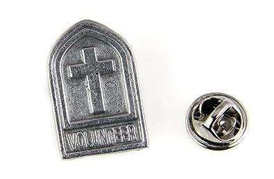 6030481 voluntarios Pin de solapa corbata Tack broche Iglesia Cruz ...