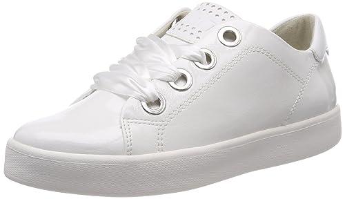 23763, Sneakers Basses Femme, Blanc (White Pat.Comb), 41 EUMarco Tozzi
