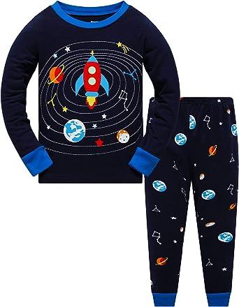 Boy Dinosaur Pajamas Set 100/% Cotton 2 Years-12 Years