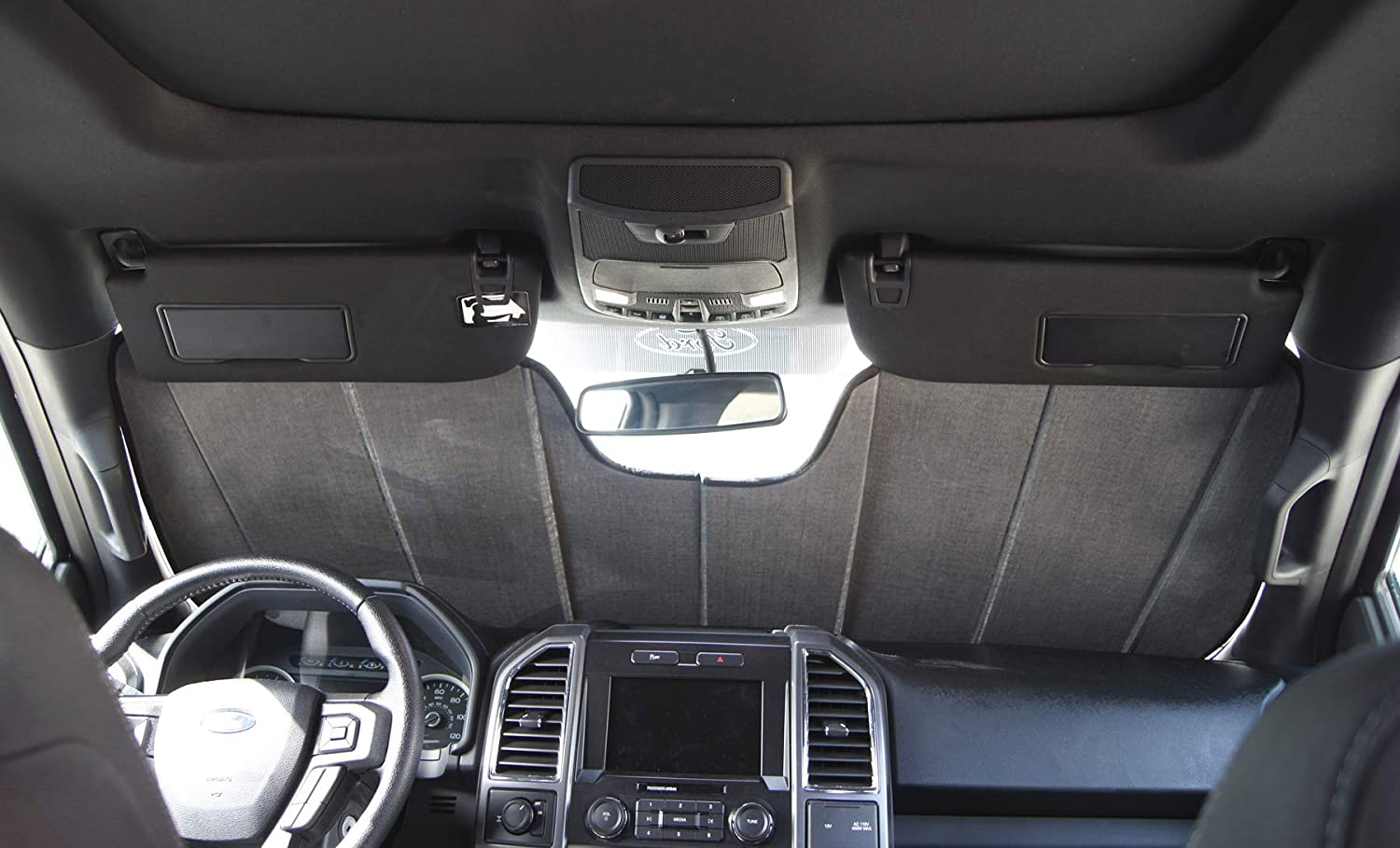 Sunshade Visor Sun Shade in Silver /& Grey 1-pc Set Compatible With 2012-2018 Audi A6 S6 TuningPros CFS-012-S Custom Fit Fold Up Thermal Shade Car Windshield Protector