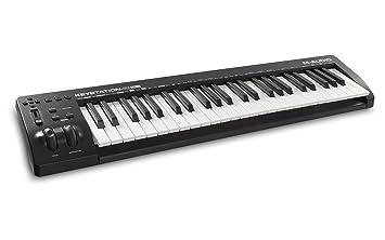M-Audio Keystation 49MK3 - Teclado Controlador MIDI Compacto de 49 teclas con controles asignables