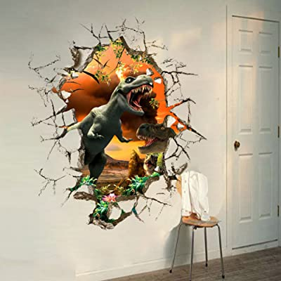 3D Dinosaur Wall Decal DIY Removable Kids Room Decor Nursery Home Decal Sticker: Home & Kitchen