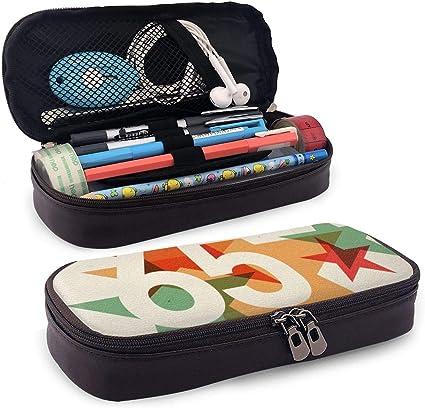 Bonito estuche para lápices, diseño de feliz cumpleaños en idiomas, francés, italiano, celebración mundial, perfecto para lápices y bolígrafos: Amazon.es: Oficina y papelería