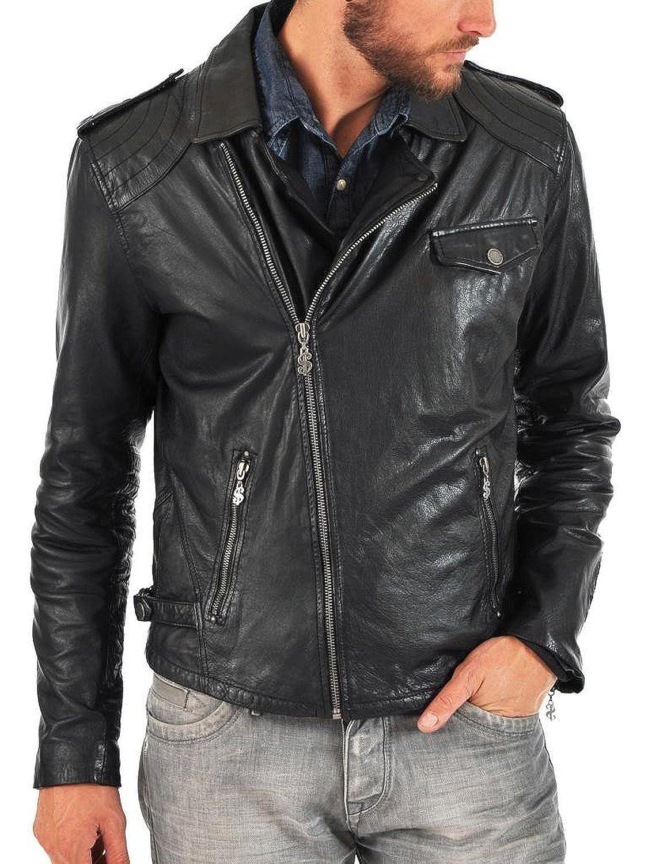 Laverapelle Men's Lamb Skin Real Leather jacket Black - 1510103