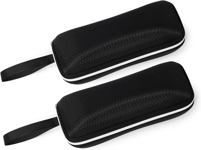 Black-rectangle Molshine 2 Pack Sunglasses Soft Case Ultra Light Glasses Case for Outdoor Sports Swimming