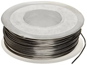 """Nickel Chromium Resistance Wire, Bright, 22 AWG, 0.0253"""" Diameter, 125' Length (Pack of 1)"""
