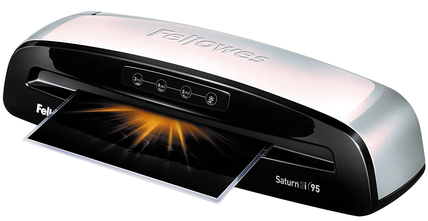Fellowes Laminator Saturn3i 95, 9.5 inch, Rapid 1 Minute Warm-up Laminating Machine, with Laminating Pouches Kit (5735801)
