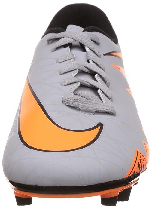 super popular 8b3bb ebe46 NIKE HYPERVENOM PHADE II FG(GREY ORANGE BLACK) FOOTBALL SHOES UK 10  Buy  Online at Low Prices in India - Amazon.in