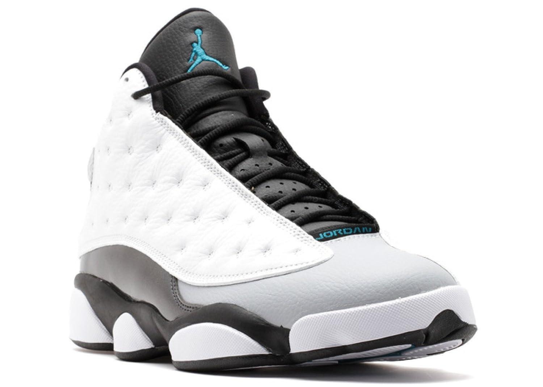 Nike Herren Air Jordan 13 Retro Turnschuhe, Schwarz  505 EU|Wei? / Gr眉n / Schwarz (Wei? / Teal-blck-trpcl Wlf Gry)