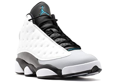 los angeles 9eb49 73b74 Jordan Air 13 Retro Hologram Men s Shoes White Tropical Teal-Black-Wolf Grey