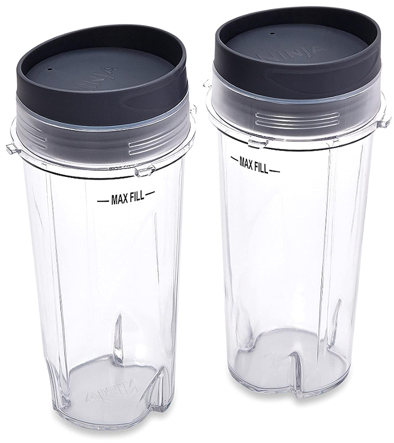Ninja XWP002CS Single Serve Cups with Lids, Clear, 16-Ounce