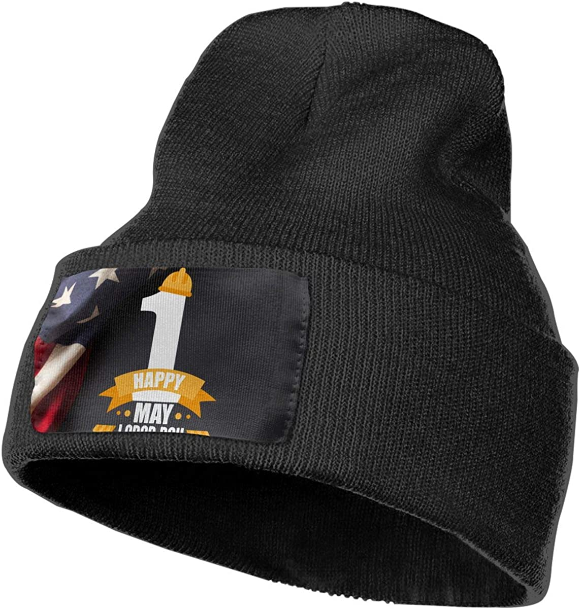Happy Labor Day American Flag Skull Cap Men /& Women Knitting Hats Stretchy /& Soft Beanie